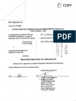 Waste Management Class Action Complaint for odors at Grand Central Sanitary Landfill on site of proposed Synagro plant