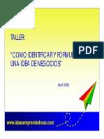 COMO IDENTIFICAR IDEAS DE NEGOCIO