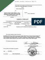 FBI Admissions Bribery Complaint