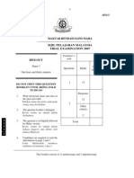 SPM Percubaan 2007 MRSM Biology Paper 3