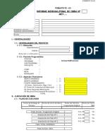 Formatos Ejecucion Fe 03 Al 06 y 10 Al 17