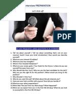 Interview Preparation Faqs Part 1
