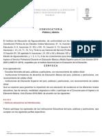 Convocatoria Ingreso Ed Bas. 2019-2020