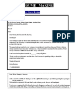 Cover Letter and Career Objective