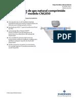 Hoja de Datos Del Producto Sensor Cng050 Data Sheet Spanish Micro Motion Es 64044