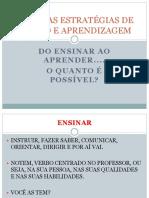 EstratégiasAvaliação - Prof Marlon
