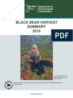 NY State Bear Harvest Summary 2018