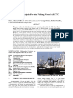 Bruce Johnson and George Borlase. Time to Flood Analysis for the Fishing Vessel ARCTIC ROSE