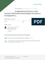 Evaluación de la degradación de tierras a nivel nacional. Herramienta metodológica de soporte a la integración y ampliación del manejo sostenible de tierras y al apoyo a la toma de decisiones.