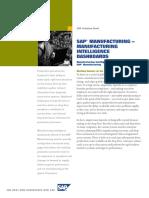 SAP Manufacturing Manufacturing Intelligence Dashboards