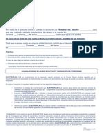 2018 11 07 Carta Devolucion Termino de Grupo Electro