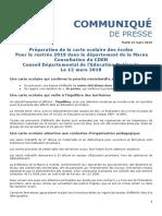 Communiqué de presse carte scolaire de la Marne
