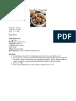 peanut butter protein balls-