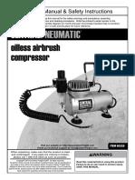 Central Pneumatic Air Compressor 60329
