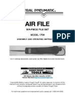 Central Pneumatic Air File 1704