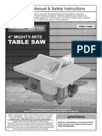 """Chicago Electric 4"""" Mighty-Mite Table Saw 61608"""