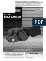 Chicago Electric Belt Sander 69859