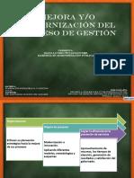 Mejora y modernización del proceso de gestión