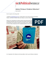 Reliance Jio_ Predatory Pricing or Predatory Behaviour
