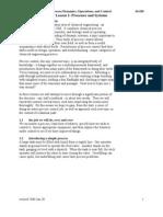 Process Dynamics Operations & Control