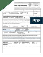 Registro de No Conformidad NC-001-2018 Reg 1