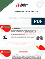 Presentación Actividades de Intervención Inmediata 2019