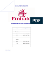 Structure of Emirates Airlines
