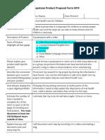 anna ybanez - ermert- senior capstone product proposal