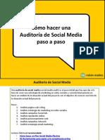 Auditoria Social Media 170913145212