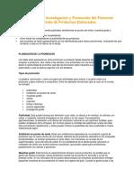 Técnicas en La Investigación y Promoción Del Potencial de Venta de Productos Elaborados