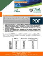 Indice de Inversión Real Marzo / USAL