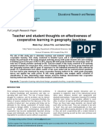 Teachers and students thoughts of effectiveness of cooperative learning in Geography