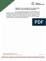 06-03-2019 REUNIÓN DEL GOBERNADOR CON ALCALDES DE LA ZONA NORTE AFECTADOS POR SISMO DEL 2017 PARA VER OBRAS PENDIENTES