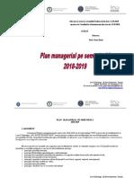 Plan Managerial Sem I - Liceul Gh. R Roznov. 2018-2019