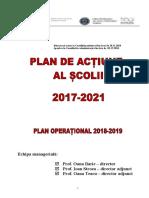 Plan de Actiune Al Scolii - Liceul Gh. R Roznov. 2017-2021