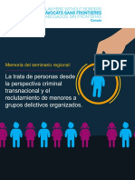 ASFC. La Trata de Personas Desde La Perspectiva Criminal Transnacional y El Reclutamiento de Menores