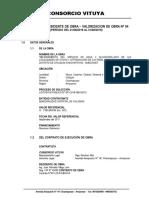 Informe de Residente de Obra Val