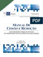 Manual de Cessão e Remoção de Servidores Públicos Estaduais MT-