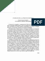 Atahualpa en La Literatura Hispanica