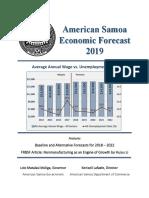 2019 American Samoa Economic Forecast