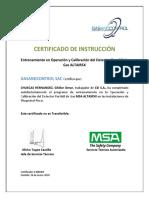 Certificado Monitoreo de Gases Chuecas Hernandez Guiller Omar