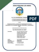 Plan de Proyeccion Social Triunfadores Del Saber Set 2016