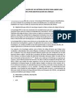 Diseño y Simulación de Un Sistema de Rfid Para Abrir Una Puerta Por Identificacion de Codigo