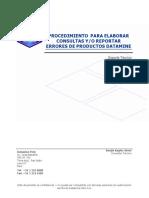 Procedimiento de Reporte de Errores o Consultas a Datamine Peru