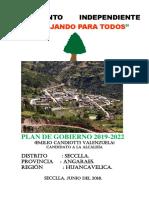 Plan de Gobierno Seccla - Alcalde Prof. Emilio Candiotti Valenzuela