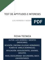 Test Aptitudes e Intereses. Herrera y Montes.