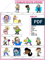 Health Problems Vocabulary Esl Matching Exercise Worksheet for Kids