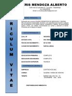 Curriculum Vitae Ddd