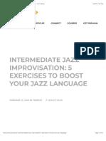 Intermediate Jazz Improvisation