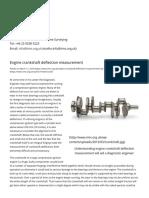 Engine Crankshaft Deflection Measurement